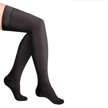 Чулки компрессионные Luomma Idealista с простой резинкой на силиконовой основе с закрытым носком 2 класс компрессии рост normal (62-71 см) арт. ID-300, цвет черный