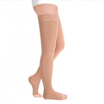 Чулки компрессионные Luomma Idealista с простой резинкой на силиконовой основе с открытым носком 1 класс компрессии рост long (72-83 см) арт. ID-310, цвет карамель