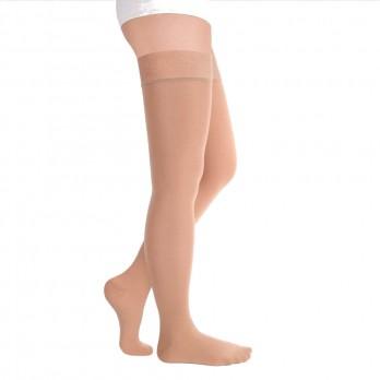 Чулки компрессионные Luomma Idealista с простой резинкой на силиконовой основе с закрытым носком 1 класс компрессии рост long (72-83 см) арт. ID-300, цвет черный