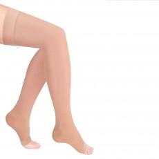 Чулки компрессионные Luomma Idealista с простой резинкой на силиконовой основе с открытым носком 1 класс компрессии рост normal (62-71 см) арт. ID-310, цвет карамель