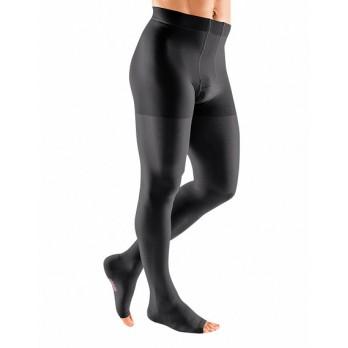 Компрессионное мужское трико mediven plus 1 класса компрессии с открытым носком (AG-72-83 см) арт. 115, цвет черный