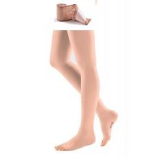 Компрессионные чулки с кружевной силиконовой резинкой на широкое бедро mediven COMFORT 2 класса компрессии с открытым носком (AG-62-71 см) арт. CO251W, цвет черный