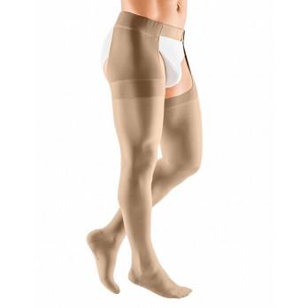 Компрессионный чулок mediven plus с застёжкой на талии на правую ногу 1 класса компрессии (AG-62-71см) арт.118C, цвет черный