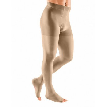 Компрессионное мужское трико mediven plus 1 класса компрессии с открытым носком (AG-62-71 см) арт. 116, цвет черный