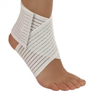Бинт медицинский эластичный на голеностопный сустав ленточный Тонус Эласт арт. ELAST 0005, цвет белый