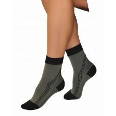 Компрессионные носки Тонус Эласт 1 класс компрессии 1 рост арт. ELAST 0406 Active, цвет серо-черный