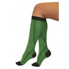 Гольфы для бега Тонус Эласт 1 класс компрессии 2 рост (170-182) арт 0401 Aktiv, цвет зелено-черный