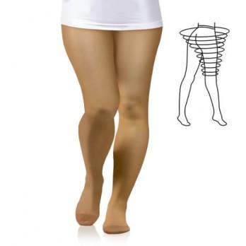 Компрессионные колготки Тонус Эласт для женщин с увеличенным объемом бедер 2 класса компрессии 1 рост арт.0404 LUX MAX, цвет карамель